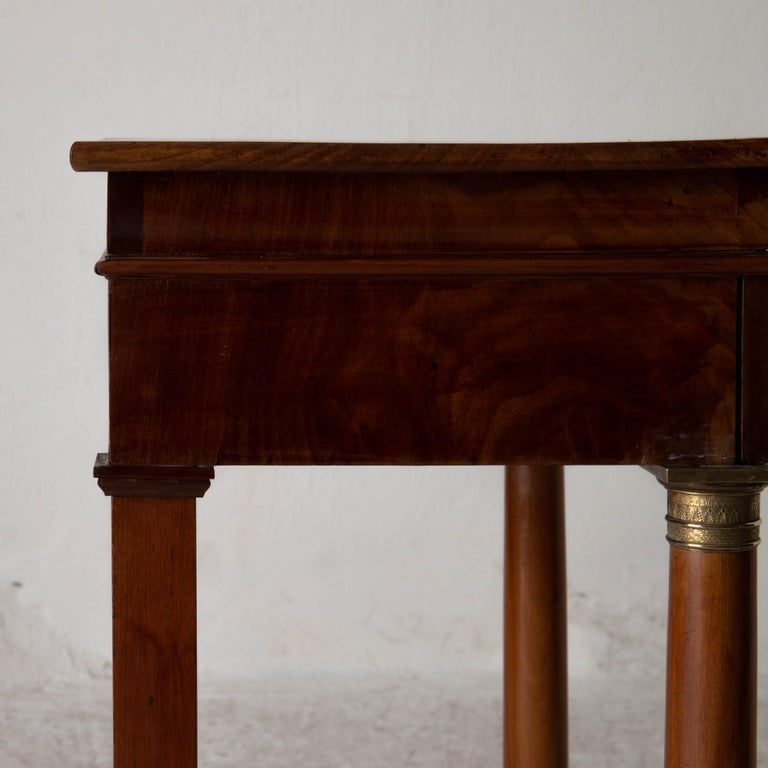 Table Nightstand Swedish 19th Century Mahogany Brass, Sweden For Sale 10