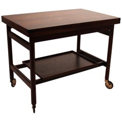 Table on Wheels in Rosewood of Danish Design from the 1960s