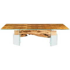 Table Portofino, in Glass and Olive-Tree Wood, Italy