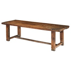 Table Refectory Dining Long Farmhouse Elm 18th Century Folk Vernacular