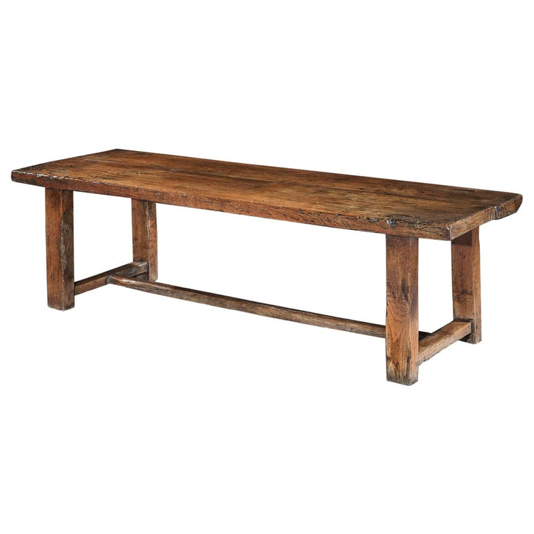 Table Refectory Dining Long Farmhouse Elm 18th Century Folk Vernacular For Sale