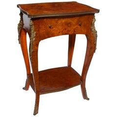 Table Salon Giltbronze Mount Ormolu Burr Walnut 19century Louis V Revival Petite