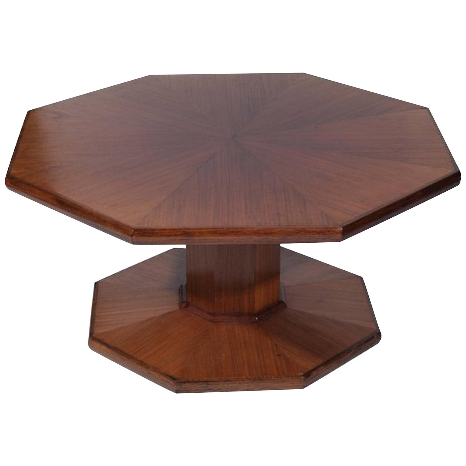 Table Sofa Coffee Low Octagonal Oak Arts & Crafts