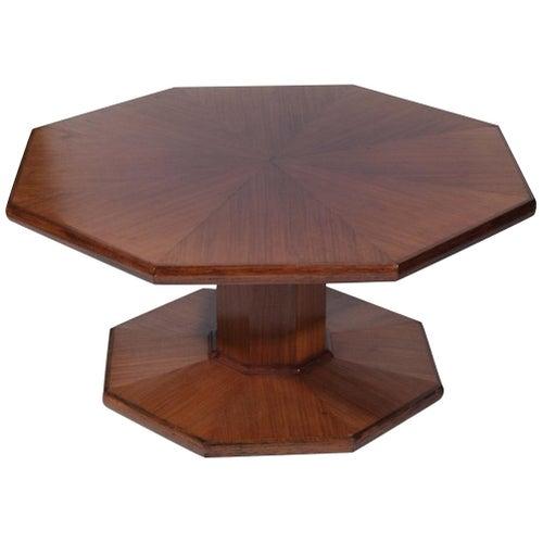 Table Sofa Coffee Low Octagonal Oak Arts & Crafts