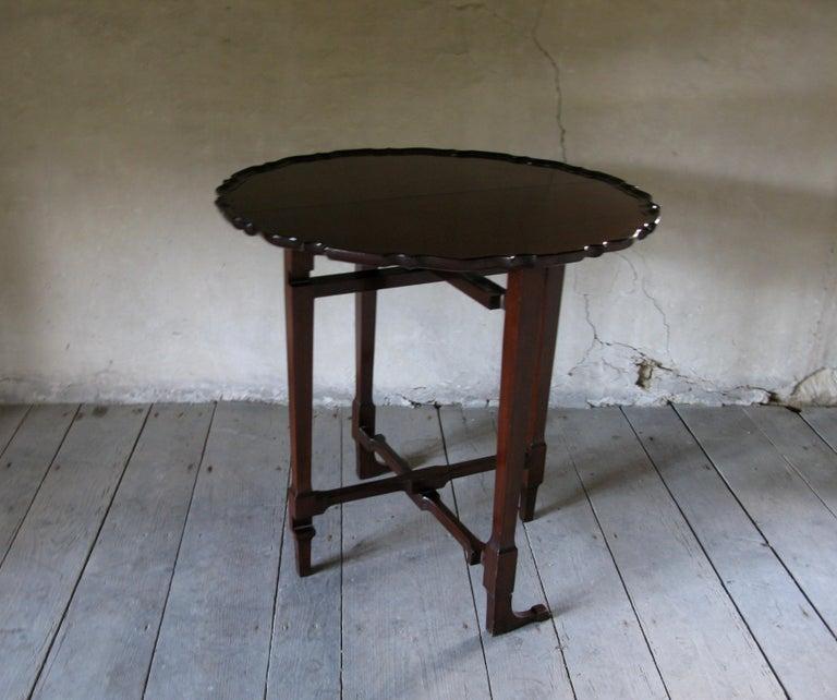 British Table, Sofa Table, Coffee Table, English, 19th Century, Mahogany For Sale