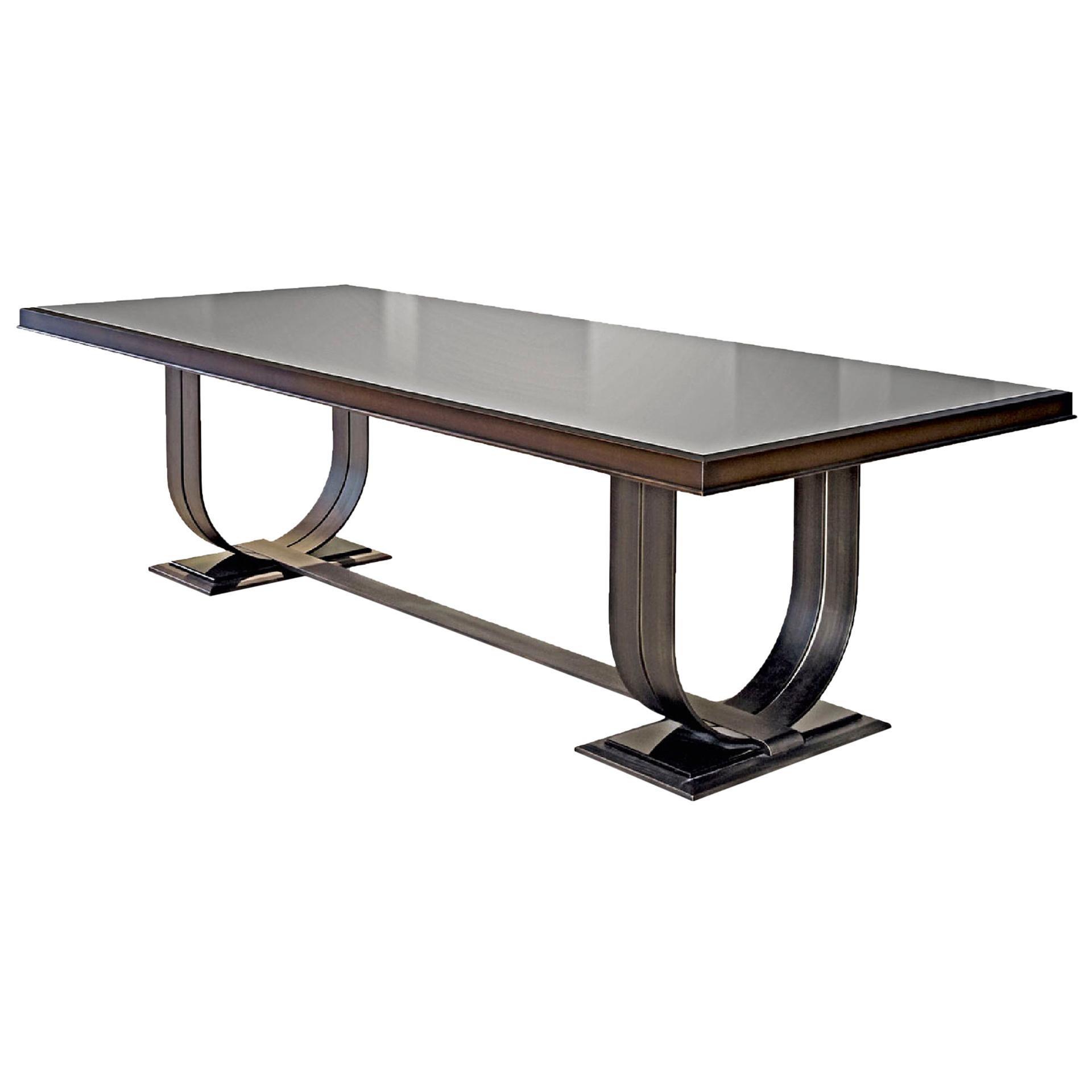 Table Solid Darkened Brass Decorative Insert Polish Ebony Bronze Mirror Top