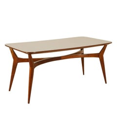 Table Stained Beech Formica Vintage Manufactured in Italy, 1950s