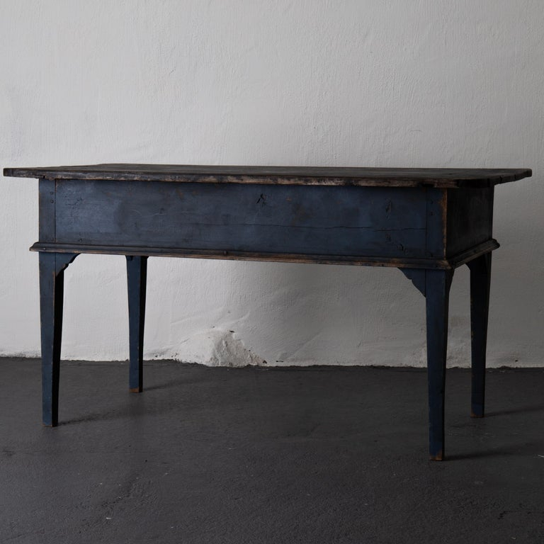 Table Swedish Black Blue, 19th Century, Sweden For Sale 6
