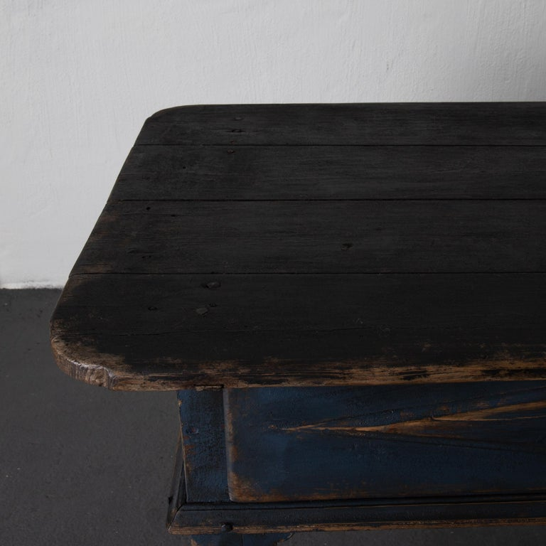 Table Swedish Black Blue, 19th Century, Sweden For Sale 1