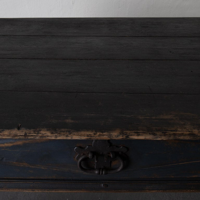 Table Swedish Black Blue, 19th Century, Sweden For Sale 2