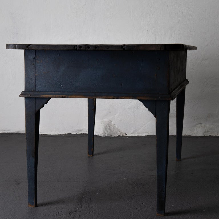 Table Swedish Black Blue, 19th Century, Sweden For Sale 3