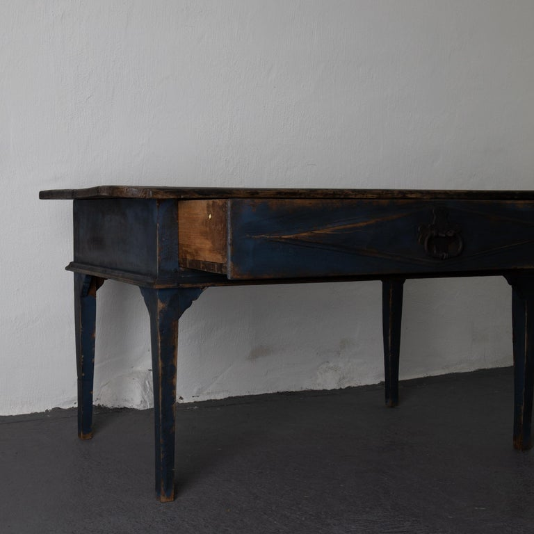 Table Swedish Black Blue, 19th Century, Sweden For Sale 4