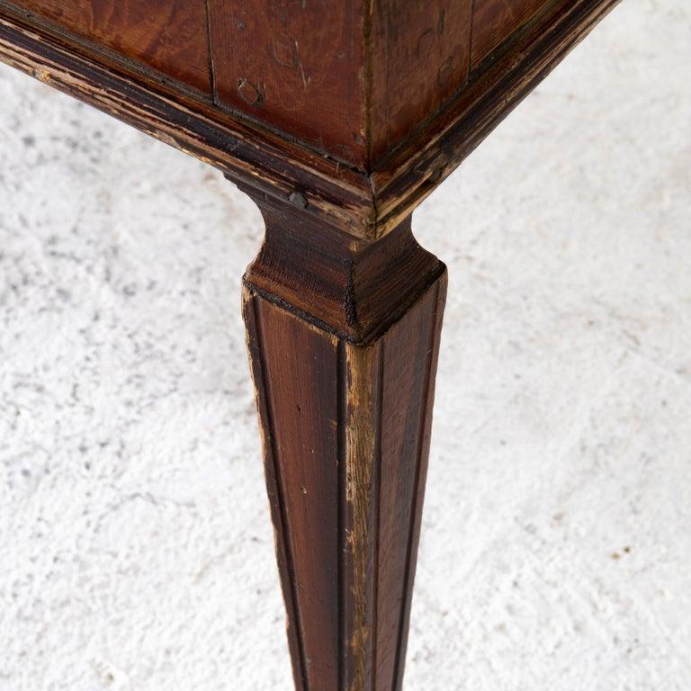 Table Swedish Gustavian 18th Century Original Paint Sweden For Sale 4