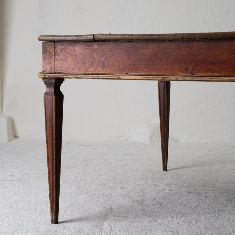 Hand-Painted Table Swedish Gustavian 18th Century Original Paint Sweden For Sale