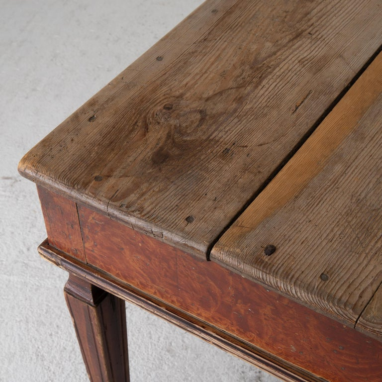 Late 18th Century Table Swedish Gustavian 18th Century Original Paint Sweden For Sale