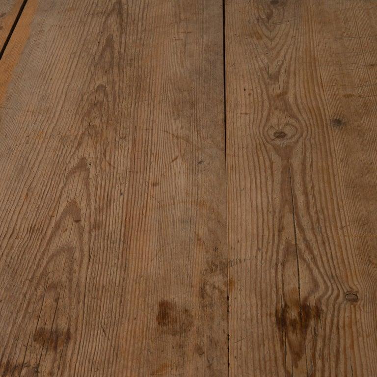 Wood Table Swedish Gustavian 18th Century Original Paint Sweden For Sale