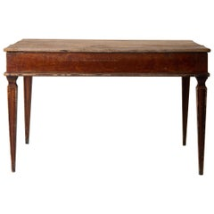 Table Swedish Gustavian 18th Century Original Paint Sweden