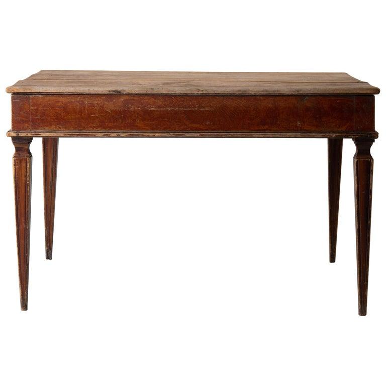 Table Swedish Gustavian 18th Century Original Paint Sweden For Sale