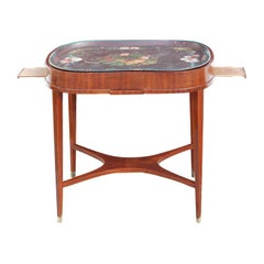 Table Swedish Mahogany Floral 19th Century Sweden