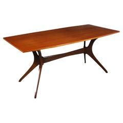 Table Teak Veneer Italy 1950s 1960s