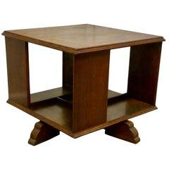 Table Top Oak Revolving Bookcase