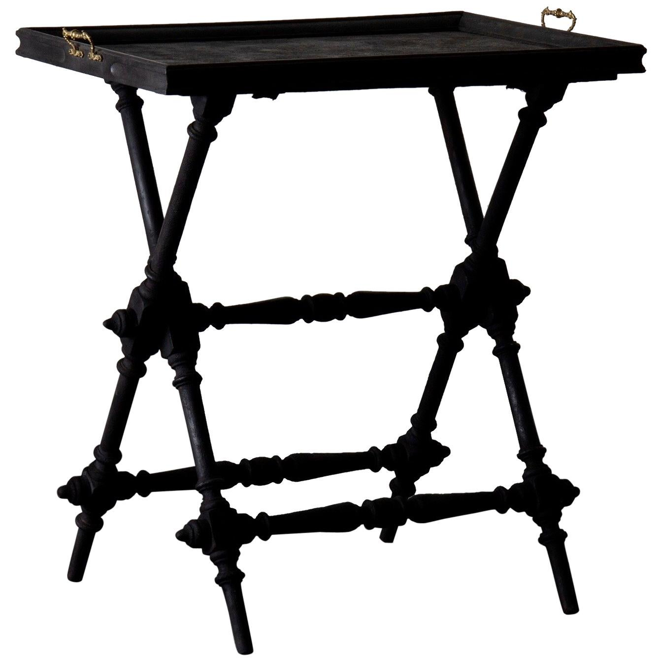 Table Tray Swedish Black, 19th Century, Sweden