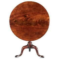 Table, Tripod, Tilt-Top, Mahogany, Flame-Figured, Column, Vase, Cabriole