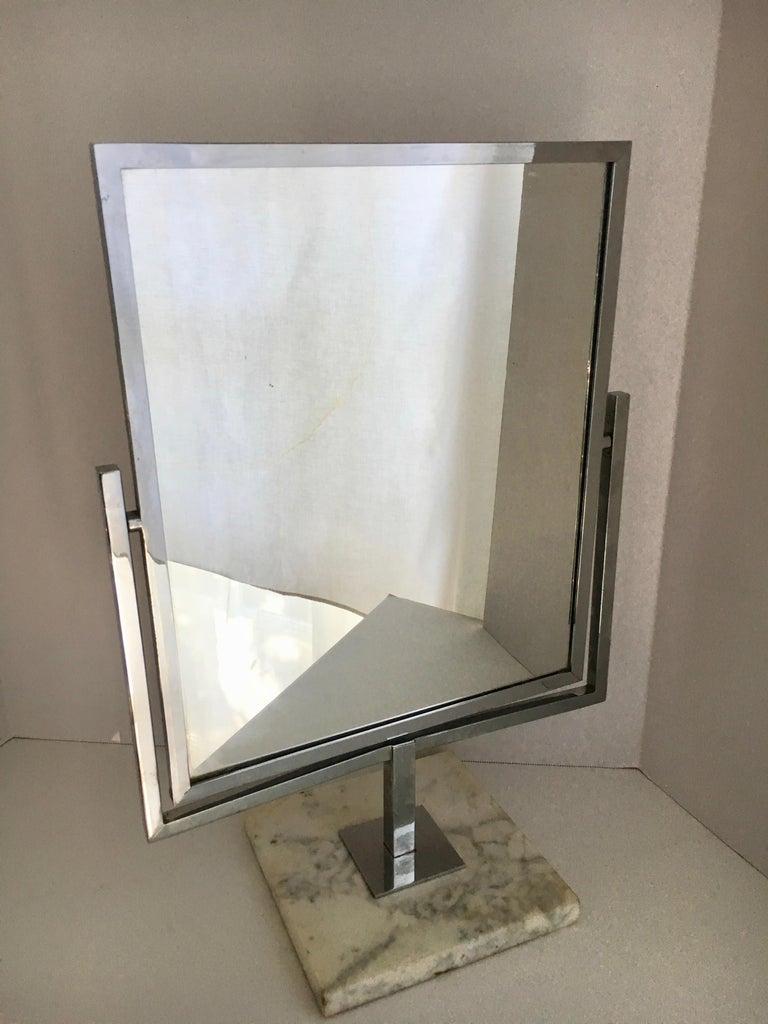 Table Vanity Mirror on Marble Base after Charles Hollis Jones For Sale 2