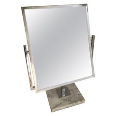 Table Vanity Mirror on Marble Base after Charles Hollis Jones