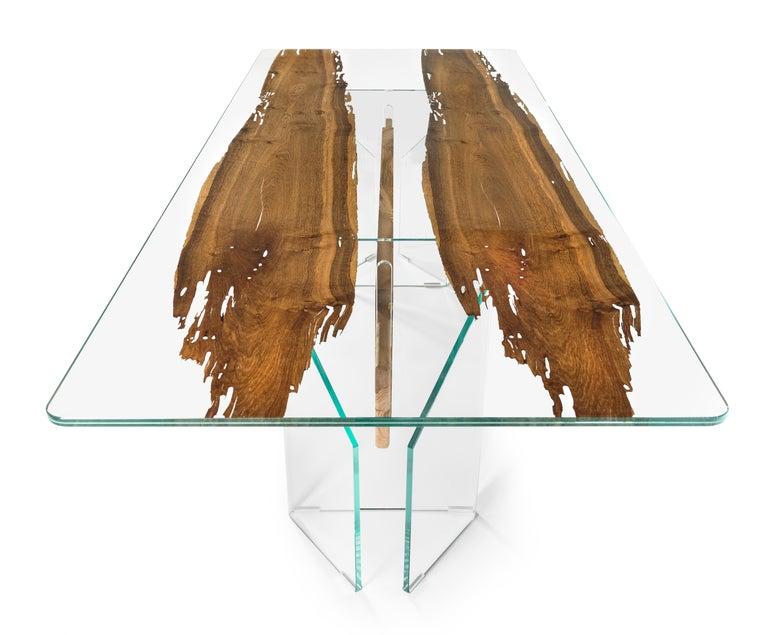 Modern Table Venezia, in Glass and Venetian Briccola, Italy For Sale