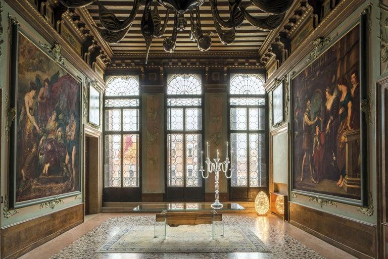 Table Venezia, in Glass and Venetian Briccola, Italy For Sale 2