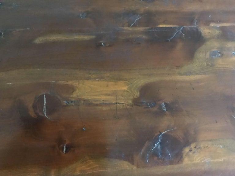 European Table, Vintage Baroque-Revival, Yewwood, Gateleg For Sale