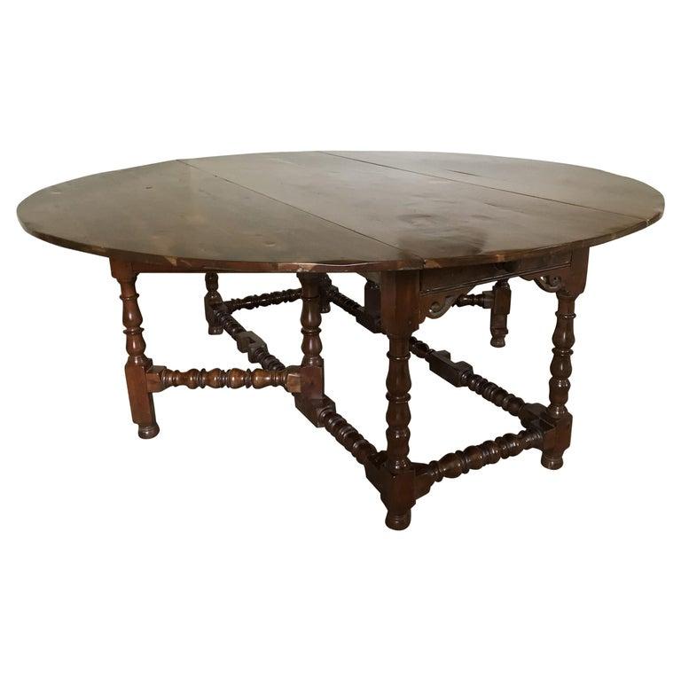 Table, Vintage Baroque-Revival, Yewwood, Gateleg For Sale
