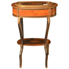 Table with Suaglass Napoleon III Inlaid in French Rosewood, 1880
