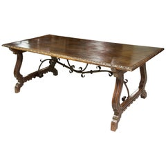 Table, Wood, Iron Fasteners, Spain, 18th Century