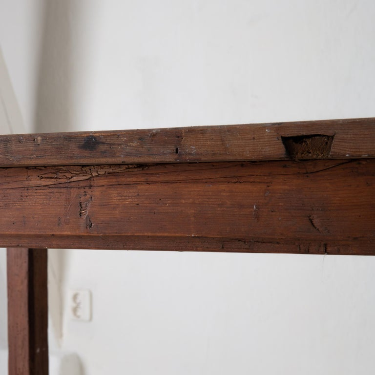 Table Work Table Swedish Rustic 18th Century Red Brown Sweden For Sale 4