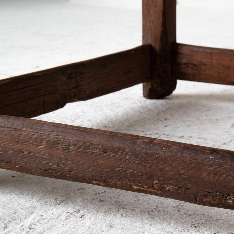 Table Work Table Swedish Rustic 18th Century Red Brown Sweden For Sale 1