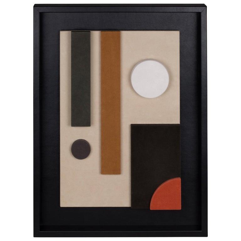 Tabou Cornice 6 Decorative Wall Sculpture HAP126 Black Frame For Sale