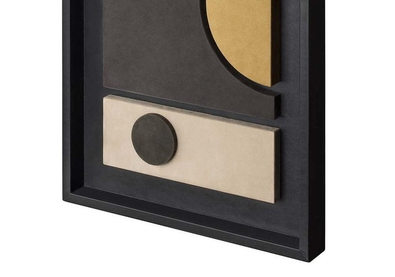 Tabou Decorative Wall Sculpture with Black Frame #4 In New Condition For Sale In Milan, IT