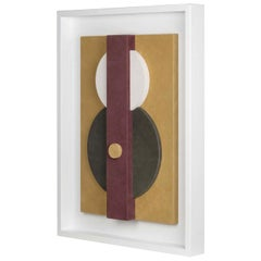 Tabou Decorative Wall Sculpture with White Frame #1