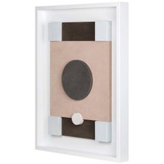 Tabou Decorative Wall Sculpture with White Frame #2