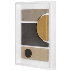 Tabou Decorative Wall Sculpture with White Frame #4