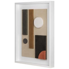 Tabou Decorative Wall Sculpture with White Frame #6