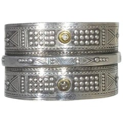 Tabra Sterling Silver Embossed Cuff