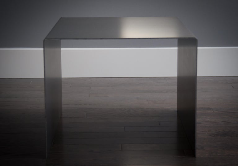 Tabula Rasa Coffee Table Nesting Style in Raw Black Steel by Mtharu For Sale 4