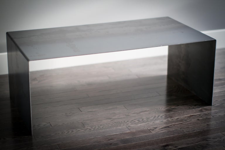 Tabula Rasa Coffee Table Nesting Style in Raw Black Steel by Mtharu For Sale 2