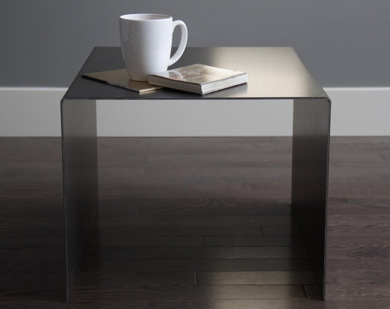 Tabula Rasa Coffee Table Nesting Style in Raw Black Steel by Mtharu For Sale 3