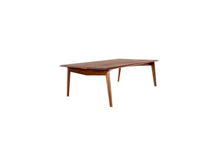 Turkish Tabularasa, Mid-Century Modern Wooden Dining or Office Table For Sale