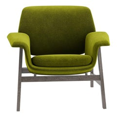 Tacchini Agnese Armchair in Green Calantha Fabric by Gianfranco Frattini