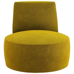 Tacchini Baobab Armchair in Mustard Bryony Fabric by Lievore Altherr Molina
